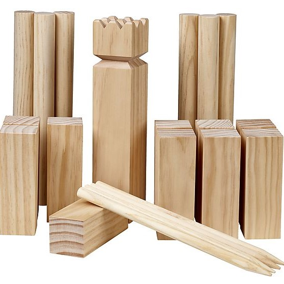 Kubb set Iceland camp game